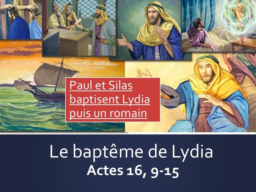 Sketch; BD diaporama : Paul et Silas baptisent Lydia - KT42 - portail caté