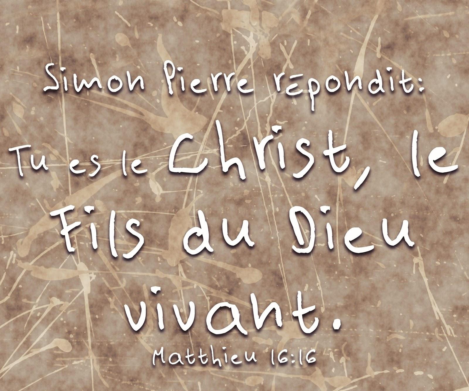 Tu es le Fils du Dieu vivant