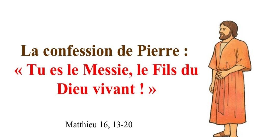 Caté : Pierre reconnait Jésus comme le Messie et reçoit les clés ...