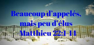 Beaucoup d'appelés, mais peu d'élus -Matthieu 22:1-14     Alain Bouwa