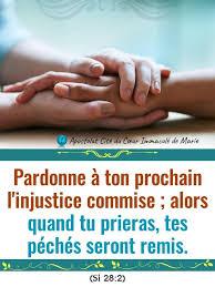 📣SI VOUS NE PARDONNEZ PAS AUX HOMMES... - Apostolat Cité du Coeur Immaculé  de Marie | Facebook