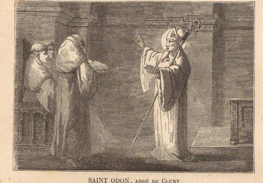 ICONOGRAPHIE CHRÉTIENNE: Saint ODON de CLUNY, abbé bénédictin
