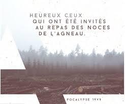 Heureux ceux qui sont appelés au festin de noces de l'agneau! Apocalypse  19:9 - Le Seigneur Jésus est proche - Journal Chrétien