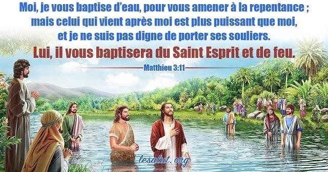 Les versets bibliques classiques à propos du baptême