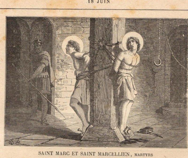 ICONOGRAPHIE CHRÉTIENNE: Saint MARC et Saint MARCELLIEN, martyrs